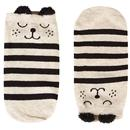 Louche London Womens Rae Striped Bear Socks