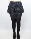 Vera LOVE STRUCK Retro 60s Polka Dot Flared Shorts