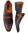 Lane LACUZZO Retro 1960s Mod Perf Two Tone Loafers