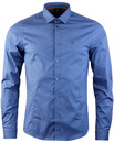 butchers pencil luke 1977 slim fit shirt petrol