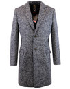 luke 1977 mod made in england boucle trench coat