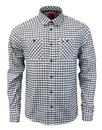 luke hooples overshirt delacreme navy check mod