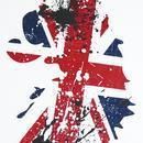 Brit LUKE Retro 1990s Britpop Union Jack Lion Tee