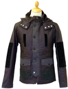 LUKE 1977 RECORDS RETRO WINTER MOD COAT 70s JACKET