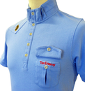 The Enemy LUKE 1977 'Cardinal' Retro Indie Polo PB