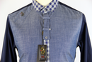 Hogston LUKE 1977 Retro Indie Mod Check Trim Shirt