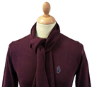 Beechball LUKE 1977 Retro Mod V-Neck & Scarf Set