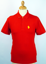 LUKE 1977 KELVIN POLO RED RETRO MOD INDIE POLO