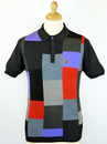 LUKE 1977 RETRO MOD 60S MONDRIAN BLOCK POLO