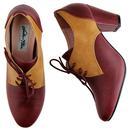 Vera LULU HUN Vintage 1940s Oxford Heels Burgundy