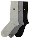 lyle & scott 3 pack socks black/grey