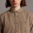 LYLE & SCOTT Archive 60s Mod Textured Check Shirt