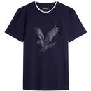 Lyle & Scott Men's Retro Casuals Eagle Logo T-shirt in Navy