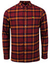 lyle and scott retro mod plaid flannel check shirt