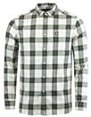 lyle and scott retro mod flannel check shirt leaf