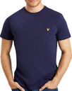 lyle and scott basic crew neck tee navy