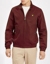 lyle and scott retro mod harrington jacket claret