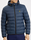 lyle and scott mens retro 1980s puffer jacket navy