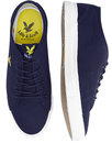 lyle and scott teviot twill 70s trainers new navy