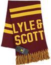LYLE & SCOTT Retro Text Knit Ivy League Scarf C