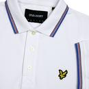 LYLE & SCOTT Men's Tipped Mod Pique Polo - WHITE