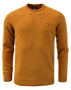 lyle and scott crew neck jumper gold mod