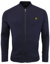 lyle & scott bomber jacket navy mod