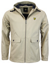 lyle & scott cotton zip through jacket stone mod