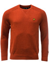 LYLE & SCOTT 60s Ribbed Crew Neck Jumper FLAME