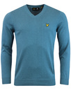 lyle & scott jumper teal mod