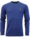 lyle & scott jumper true blue mod