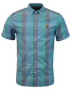 LYLE & SCOTT Retro Sixties Check S/S Shirt AQUA