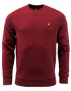 Lyle and Scott Retro 70s classic sweater sweat red