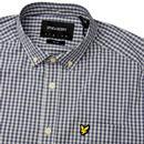 LYLE & SCOTT Mens Retro Mod Gingham Shirt - Blue