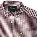 LYLE & SCOTT Mens Retro Mod Gingham Shirt - Claret