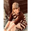 Cilla MADCAP ENGLAND 60s Mod Stripe Dress w/ Scarf