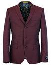 madcap england 60s mod mohair suit jacket burgundy
