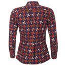 Celia Retro Petals MADCAP Mod Penny Collar Shirt