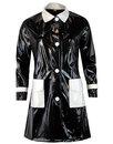 Robin MADCAP ENGLAND 60s Mod 2 Tone PVC Raincoat