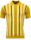 madcap england capitol mod stripe zip through polo