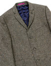 MADCAP ENGLAND Mod Donegal 3 Button Suit Jacket