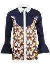 madcap england retro mod geo floral western shirt