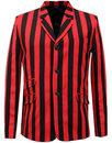 madcap england inferno retro 60s mod stripe blazer