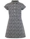 madcap england jane retro mod floral shirt dress
