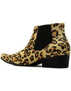 Stewart MADCAP ENGLAND Leopard Print Chelsea Boots