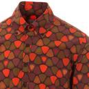 Trip Plectrum MADCAP ENGLAND Retro Op Art Shirt R