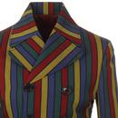 Hendrix Stripe MADCAP ENGLAND 60s Mod DB Blazer