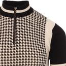 Roue MADCAP ENGLAND Mod Dogtooth Cycling Top ECRU