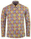madcap england tribal trip 60s mod diamond shirt