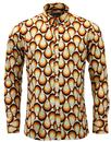 MADCAP ENGLAND RETRO 70S BIG COLLAR TRIP SHIRT
